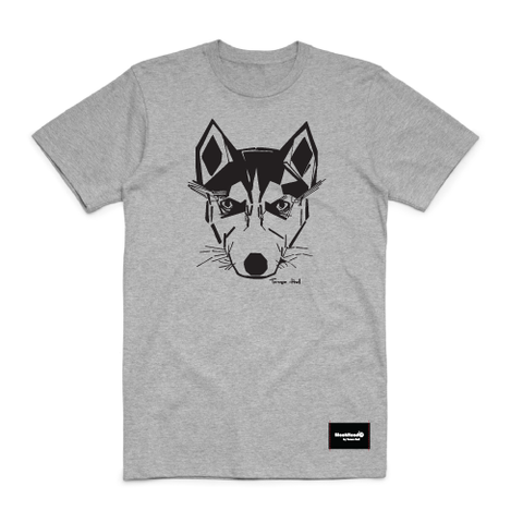 t-shirt grey - husky - blackhead-clothing