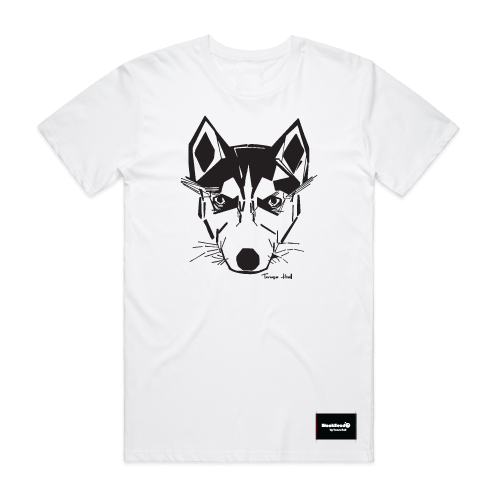 t-shirt white - husky - blackhead-clothing