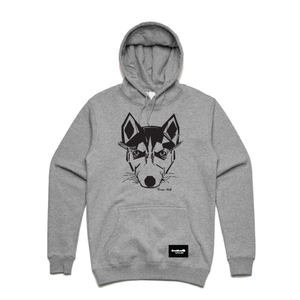hoodie grey - husky - blackhead-clothing
