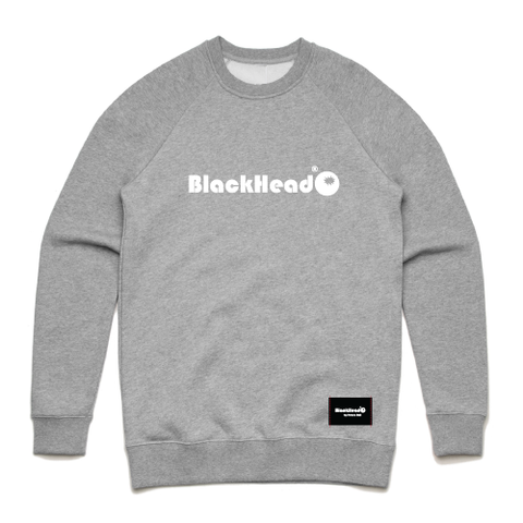 grey crew sweatshirt - crew sweat logo Blackhead