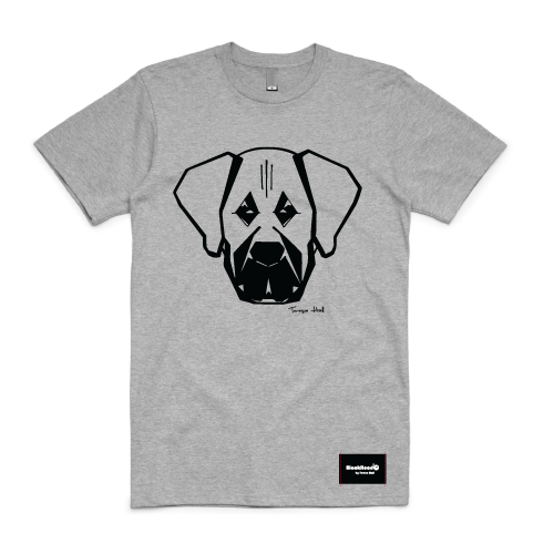 t-shirt grey - mastiff - blackhead-clothing