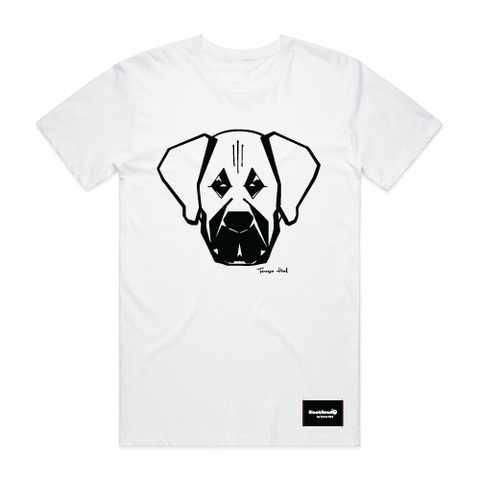 t-shirt white - mastiff - blackhead-clothing