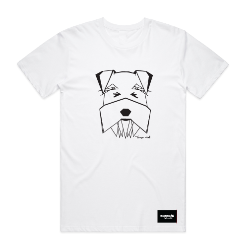 t-shirt white - schnauzer - blackhead-clothing