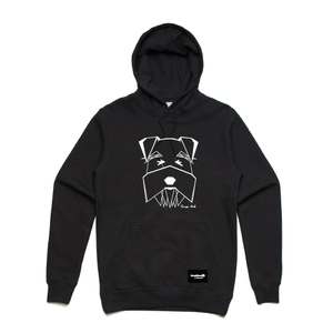 hoodie-grey -blackhead-clothing