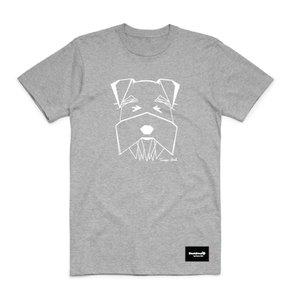 t-shirt grey - schnauzer - blackhead-clothing