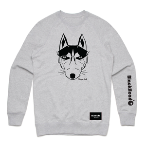 sweatshirt grey - wolf - blackhead-clothing