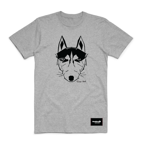 t-shirt grey - wolf - blackhead-clothing