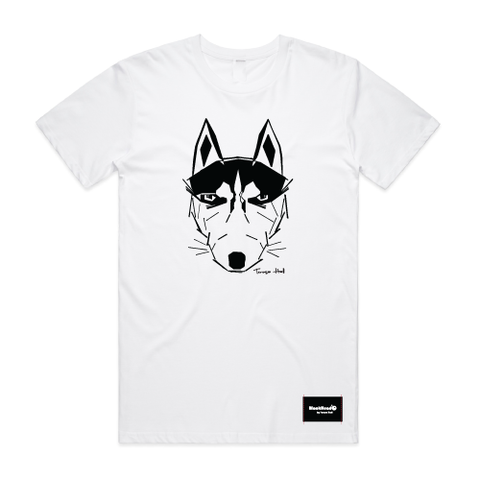 t-shirt white - wolf - blackhead-clothing