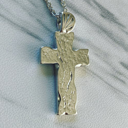 Sterling Silver Wood Cross Necklace - Divine Box