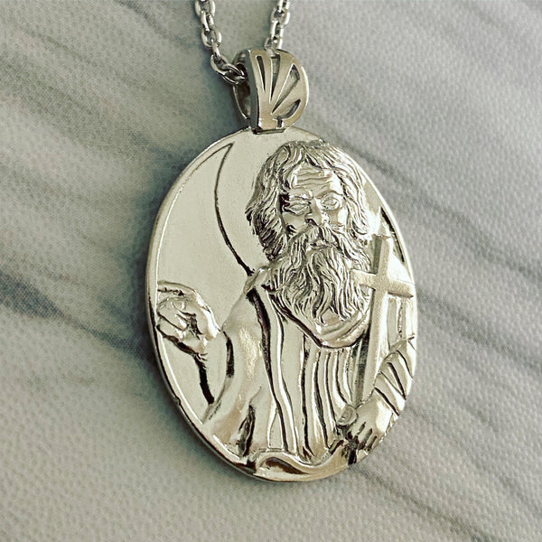 Sterling Silver Saint John the Baptist Necklace - Divine Box
