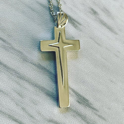 Sterling Silver Star Cross Necklace - Divine Box