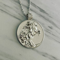 Sterling Silver Saint George Necklace - Divine Box
