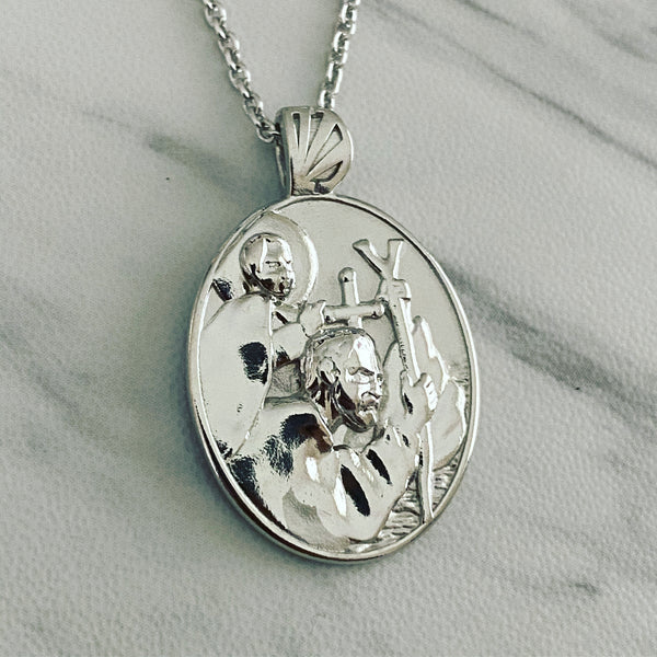 Sterling Silver Saint Christopher Necklace - Divine Box