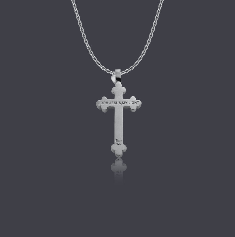 Sterling Silver Fleur-de-Lis Cross Necklace - Divine Box