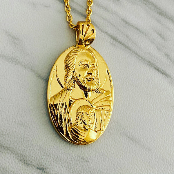 18K Gold Vermeil Saint Jude Necklace - Divine Box