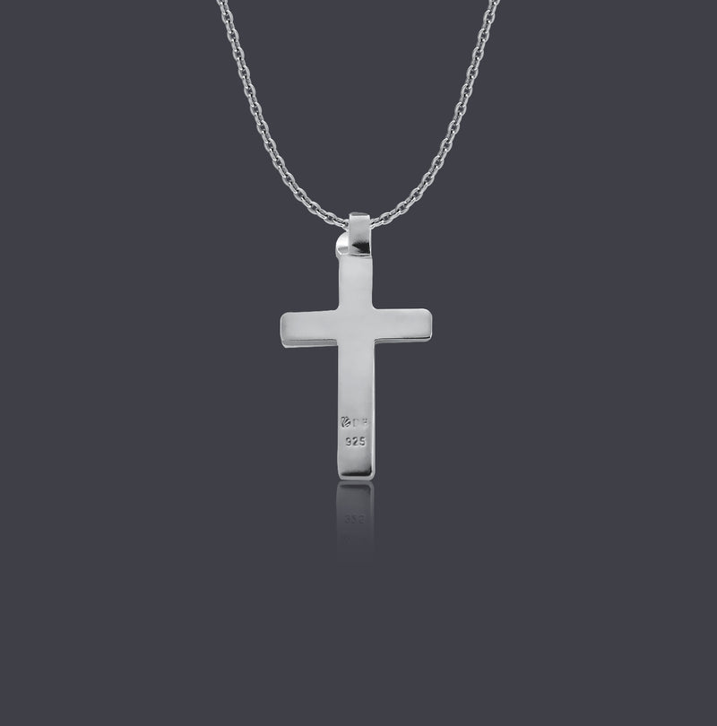 Sterling Silver Modern Crucifix Necklace - Divine Box