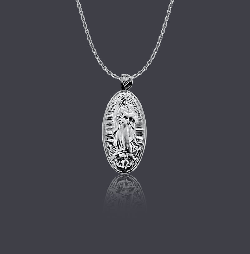 Sterling Silver Our Lady of Guadalupe Necklace - Divine Box