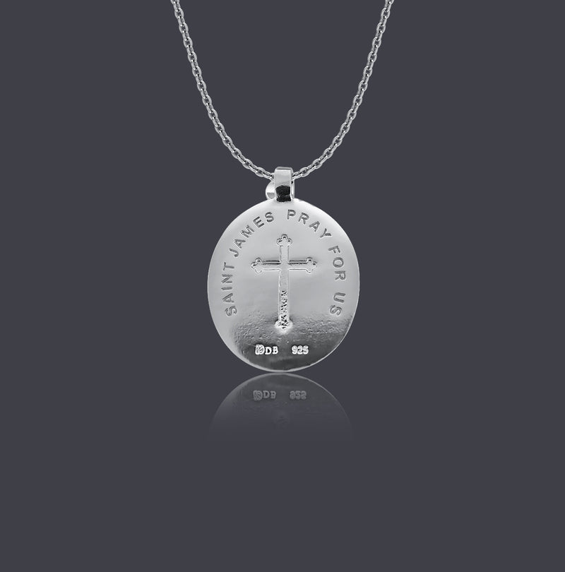 Sterling Silver Saint James Necklace - Divine Box