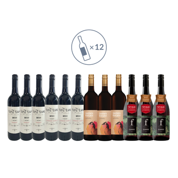 James Estate Extra Value Red Wine Mixed Pack (12 bottles)