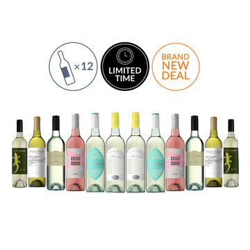 Premium Mixed White Dozen Featuring Summer Bliss Marlborough Sauvignon Blanc  (12 bottles)