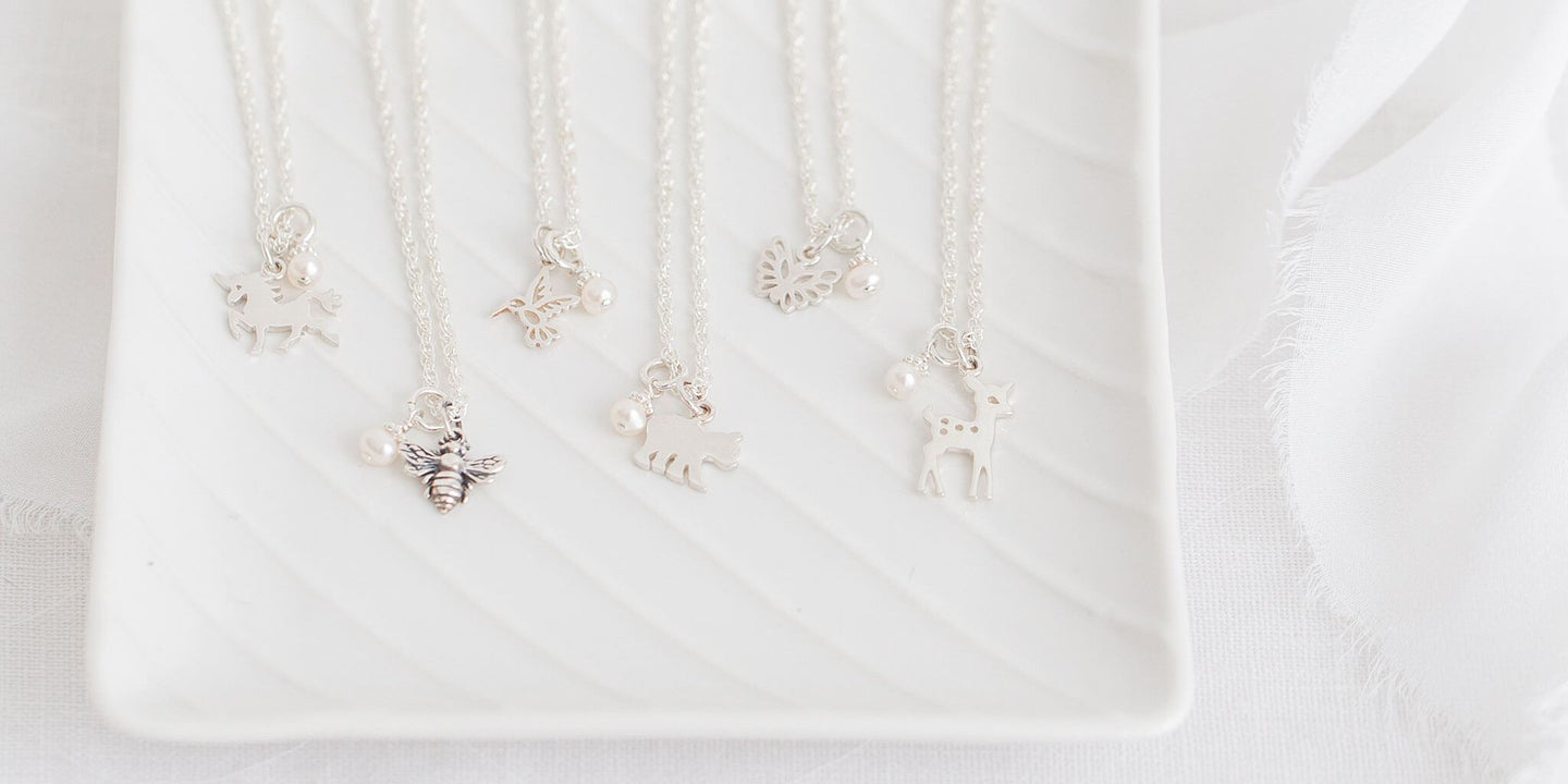Storybook Necklaces in Silver for Girls.