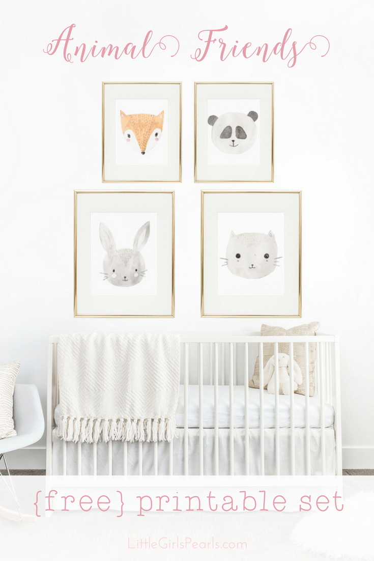 There's nothing sweeter than little baby animals for decorating a nursery! Print them for FREE right here! https://shop-littlegirlspearls.myshopify.com/blogs/articles/animal-friends-free-printable-set/ <3 #littlegirlspearls #nursery #freeprintable