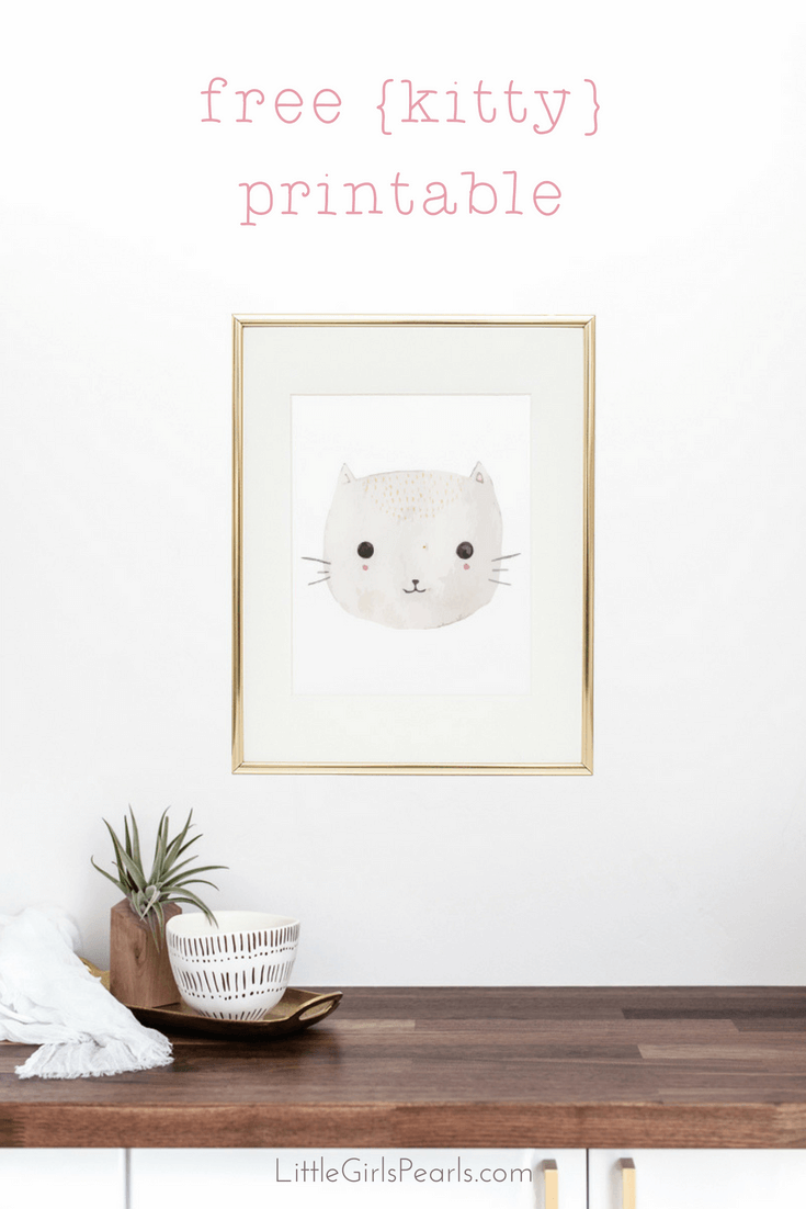 There's nothing sweeter than little baby kitties for decorating a nursery! Click here to print off this kitty or one of her other 3 buddies! https://shop-littlegirlspearls.myshopify.com/blogs/articles/animal-friends-free-printable-set/ <3 #littlegirlspearls #nursery #freeprintable