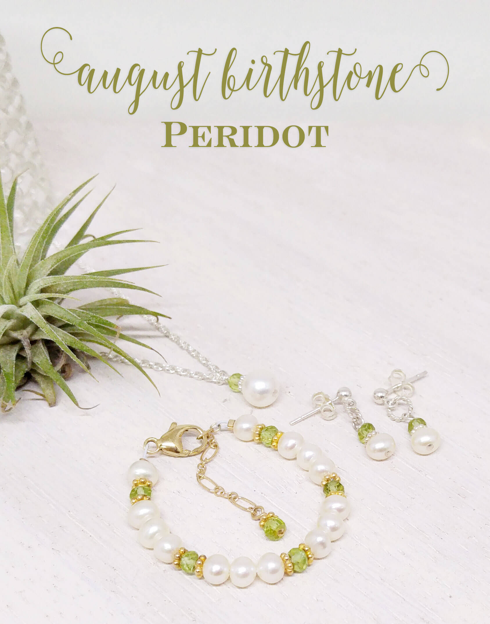 Peridot - August Birthstone | the history of the beautiful green gem for all of you August babies! Little Girl's Pearls ♥