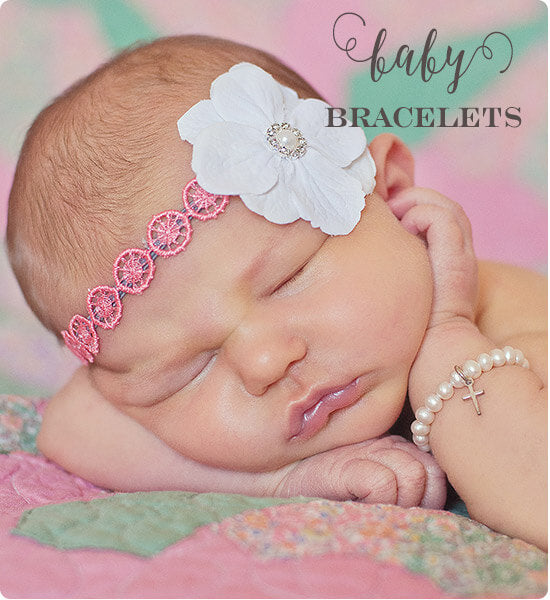 Pearl baby bracelets - baby girl baby shower gift ideas. | Little Girl's Pearls ♥