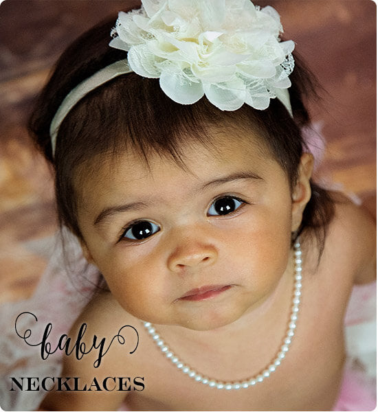 Pearl baby necklaces for her baby shower gift | Little Girl's Pearls ♥