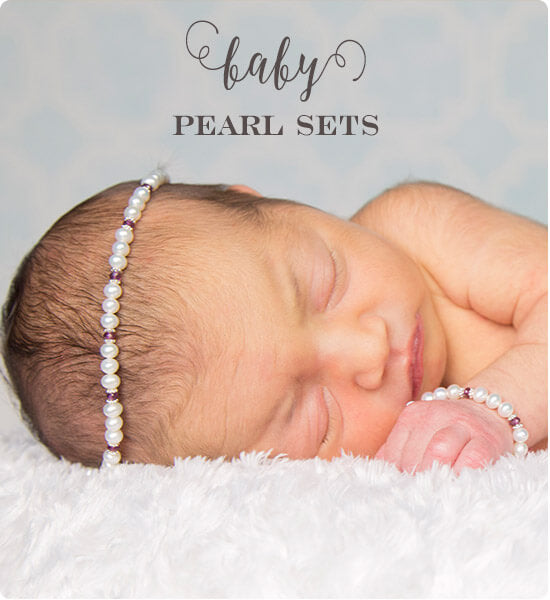 Baby shower pearl jewelry sets. | Little Girl's Pearls ♥