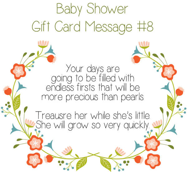 Baby Shower Gift Card Message Idea #8 - Your days are going to be filled with endless firsts that will be more precious than pearls. Treausre her while she's little. She will grow so very quickly. | Little Girl's Pearls ♥