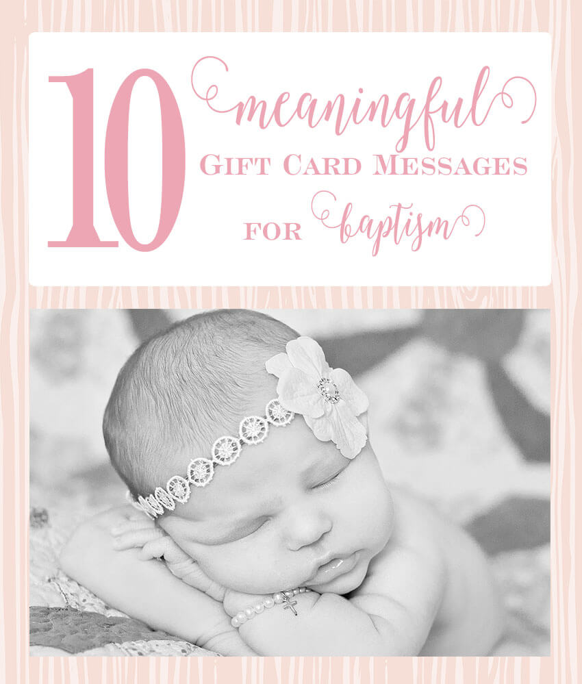 You've picked out the perfect card, but now... what to write in it? Fear not, I've got 10 meaningful messages for you to write in honor of a little girl's baptism. | Little Girl's Pearls ♥ #giftcard #giftcardmessages #giftcardnotes #littlegirlspearls #baptism