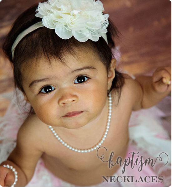 Keepsake Pearl and Silver baptism Necklaces by Little Girl's Pearls ♥