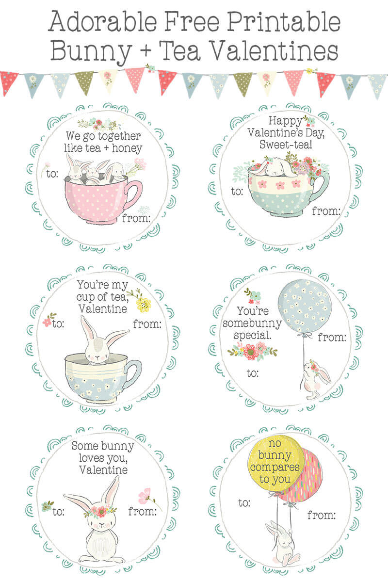 Are you searching for quick, easy, and adorable FREE printable Valentine cards for her classroom? Check out these precious bunnies with balloons, flowers and tea cups - they'll save you hours of glue and glitter + they're the sweetest! https://shop-littlegirlspearls.myshopify.com/blogs/articles/bunnies-tea-printable-valentines-day-cards-for-kids/ ♥ Little Girl's Pearls | #valentine #valentinesforkids #valentinecards #classroomvalentines #bunnies #teacups #pastel #freeprintable