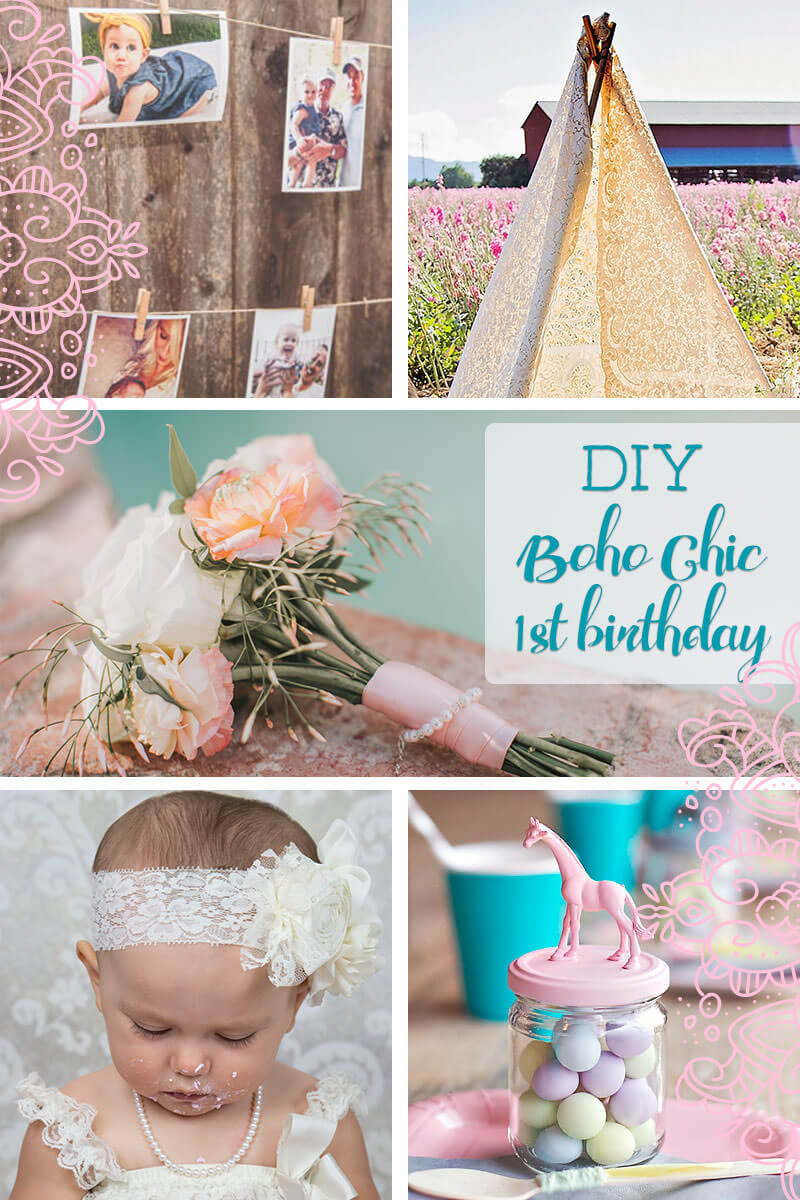 DIY Boho Chic First Birthday Party Ideas and Inspiration ♥ Little Girl's Pearls | #littlegirlspearls #bohochic #diyboho #diybirthday #diy #firstbirthday #1stbirthdayinspiration #firstbirthdayideas