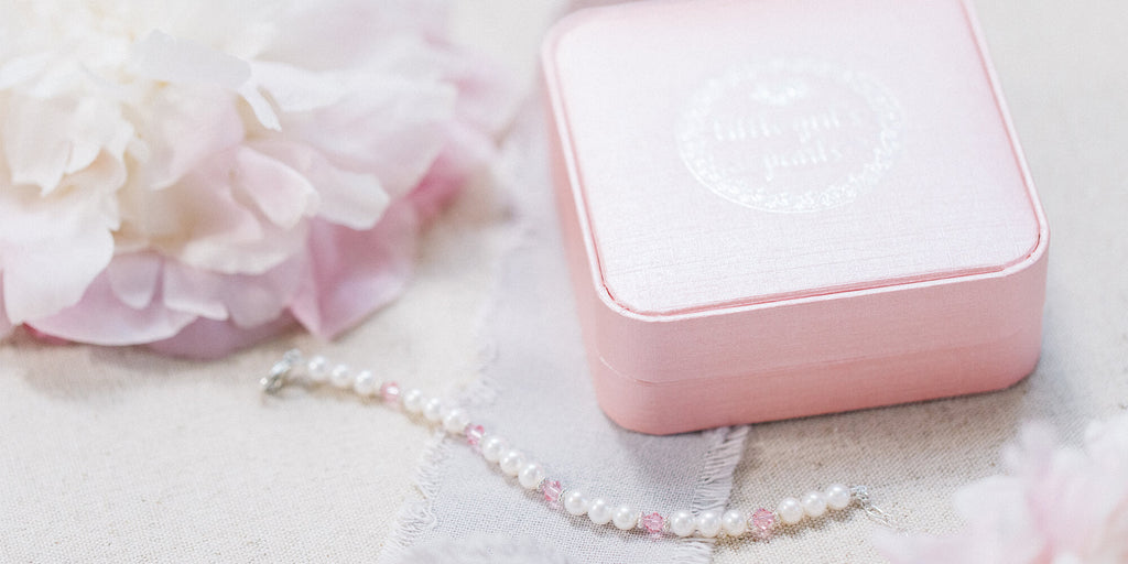 Little Girl's Pearls - simple, beautiful, modern heirloom jewelry family traditions.