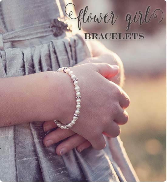Flower Girl Bracelets in real pearls and silver by Little Girl's Pearls ♥