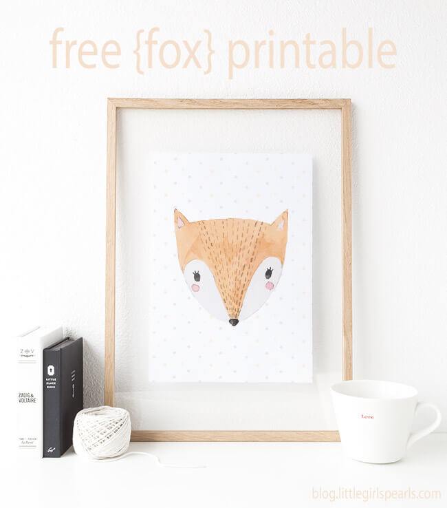 There's nothing sweeter than little baby foxes for decorating a nursery! Click here to print off this fox or one of his other 3 buddies! https://shop-littlegirlspearls.myshopify.com/blogs/articles/animal-friends-free-printable-set/ <3 #littlegirlspearls #nursery #freeprintable