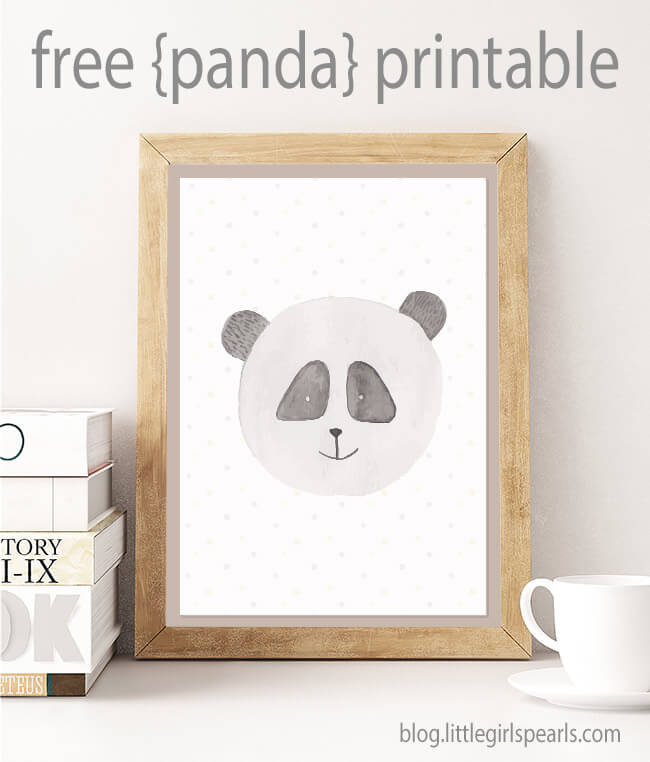 There's nothing sweeter than little baby pandas for decorating a nursery! Click here to print off this panda or one of his other 3 buddies! https://shop-littlegirlspearls.myshopify.com/blogs/articles/animal-friends-free-printable-set/ <3 #littlegirlspearls #nursery #freeprintable
