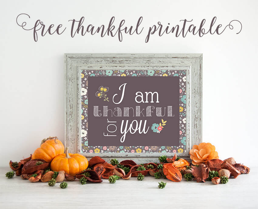 Thankful printable from Little Girl's Pearls.