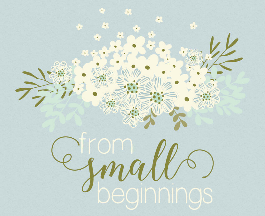 from small beginnings - a sweet free printable 8x10 for her baby nursery or little girl room | Little Girl's Pearls ♥