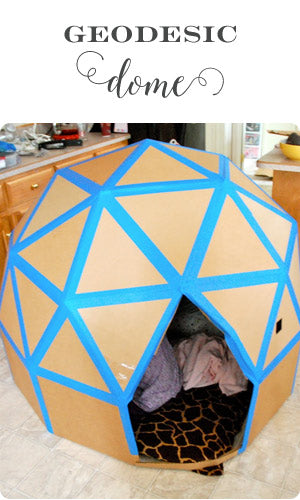 Geodesic Dome cardboard house