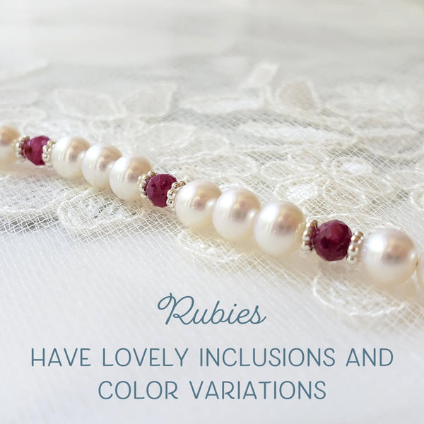 Rubies have lovely inclusions and color variations.