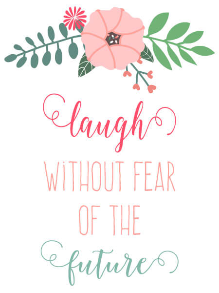 free printable 8x10 print from Little Girl's Pearls | laugh without fear of the future ♥