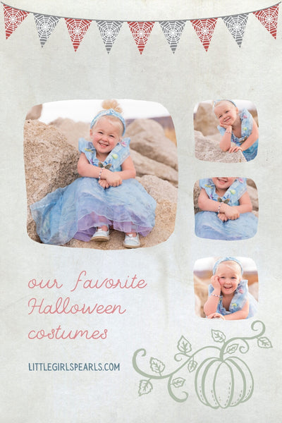 Our very favorite halloween costumes with pearls - blue princess fairy godmother.