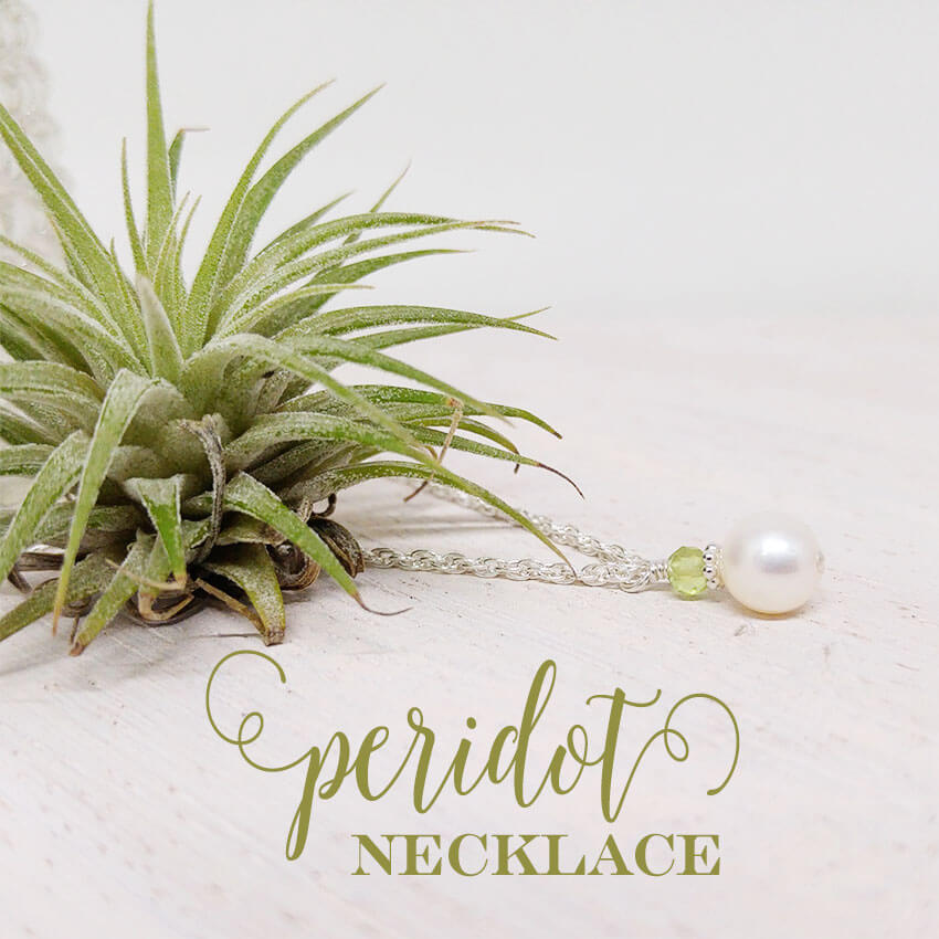Adorable keepsake pearl and peridot necklace - a lovely little gift for her August birthday. | Little Girl's Pearls ♥