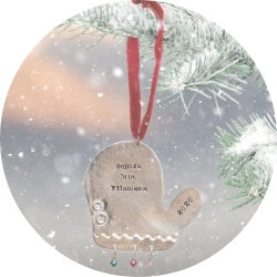 Personalized Christmas ornament from little girl's pearls.