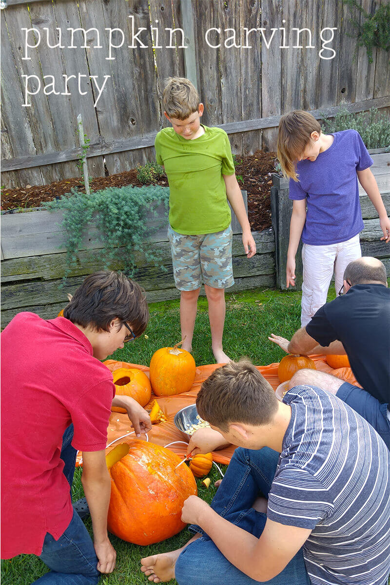 Host a Halloween Pumpkin Carving Party for Kids