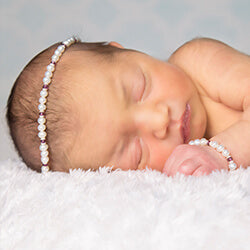 shop new baby girl modern heirloom pearl bracelet and necklace sets for newborns.